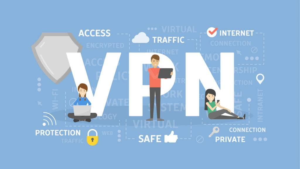 employees are using vpn to secure their internet network and work safely