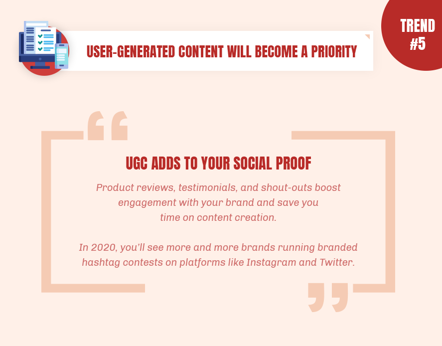 User-generated content is definitely important now
