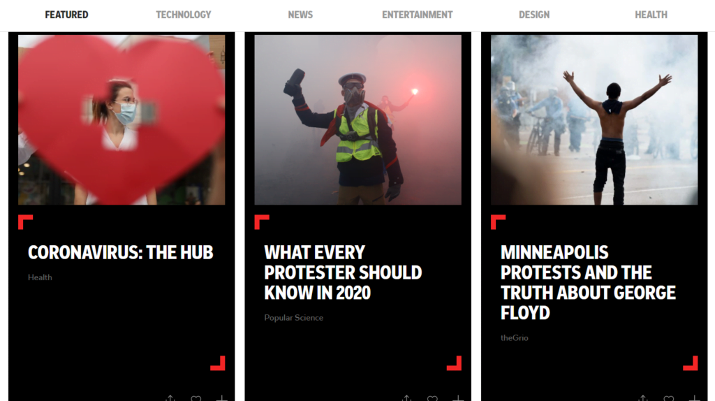 How to get inspiration for your content is by using Flipboard