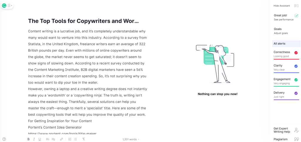 Grammarly is one of the best tools for wordsmiths