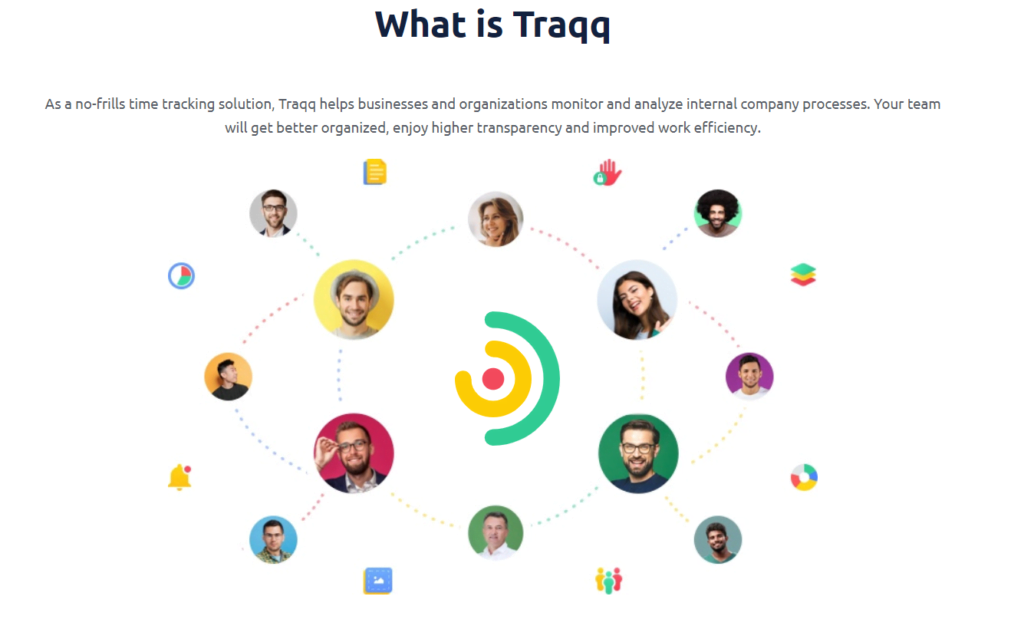 Traqq helps asanalyze internal company processes