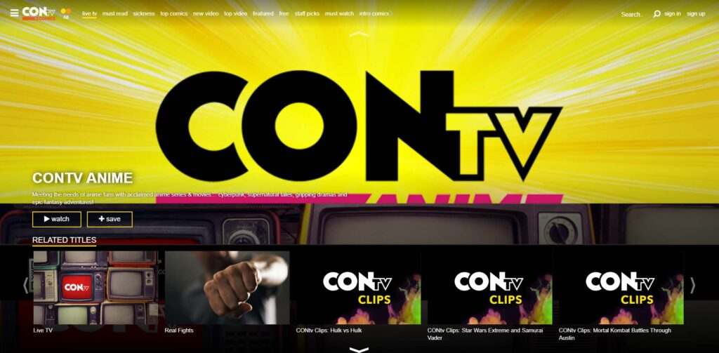With CONtv you can watch TV shows online without registering