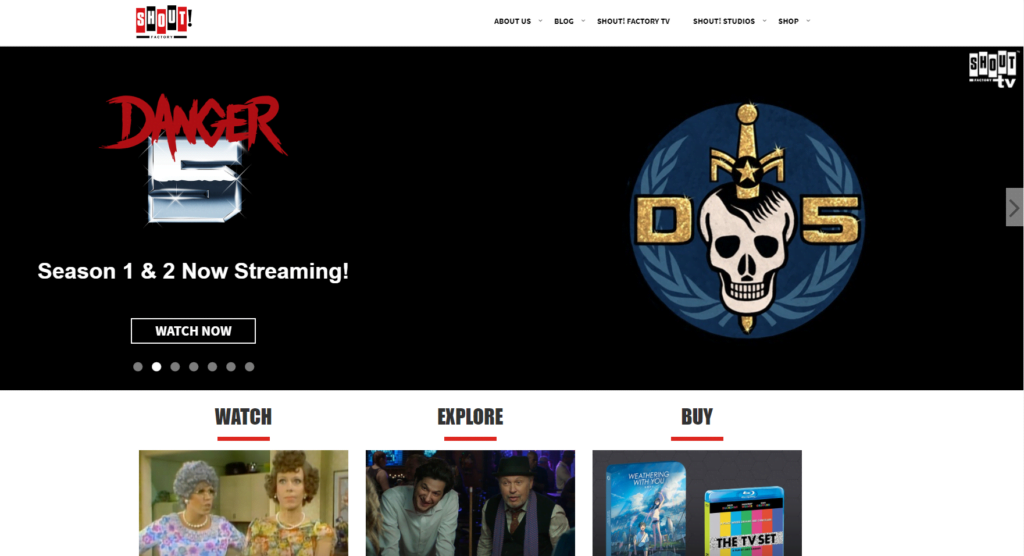 Shout Factory allows you to watch TV shows online for free