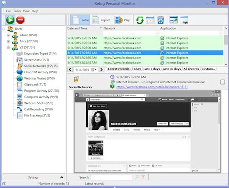 Refog - Free Keyloggers for Employee Monitoring