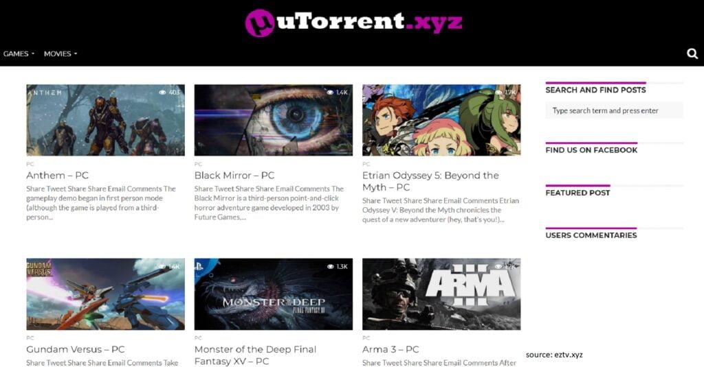 uTorrent.xyz - Best Unknown Torrent Sites