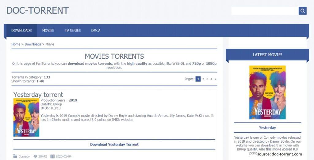 DocTorrent - Best Unknown Torrent Sites