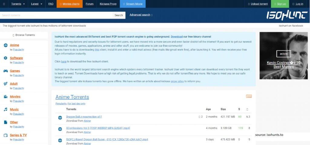 isoHunt - Best Unknown Torrent Sites