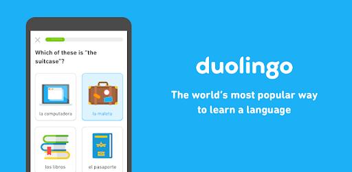 train your brain with Duolingo