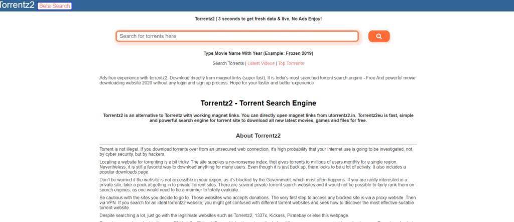 Torrentz2 is a replacement for the original Torrentz.eu