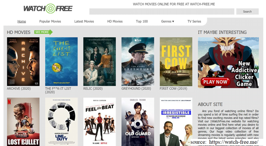 WatchFree - 123movies alternative