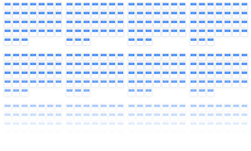 Year-Round Monthly Planner Template with 1-Day Intervals