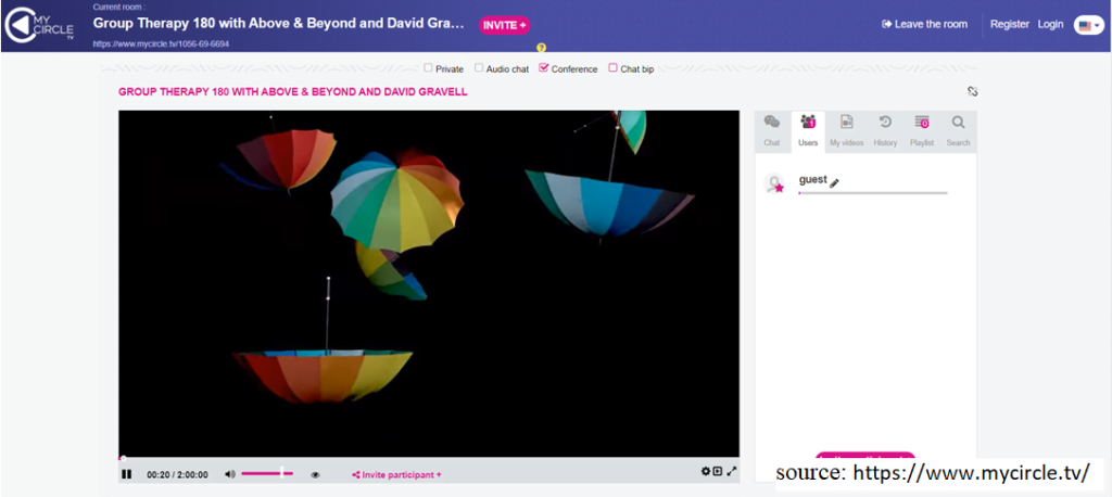 screenshot of website MyCircle.tv
