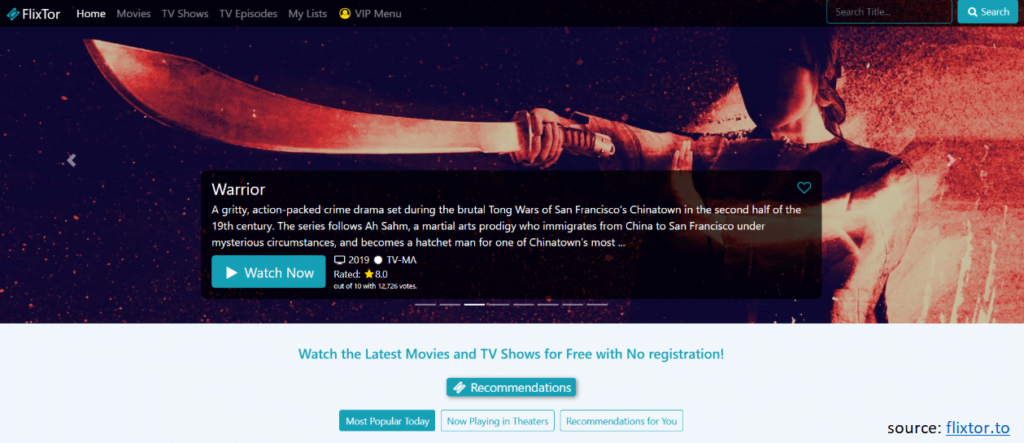 flixtor allows you to watch TV shows online for free