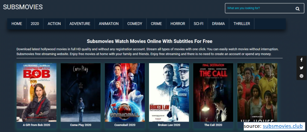 SubMovies allows you to watch TV shows online for free
