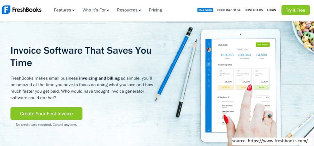 FreshBooks -  Invoicing Software