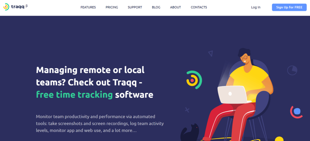 Traqq - time tracking software