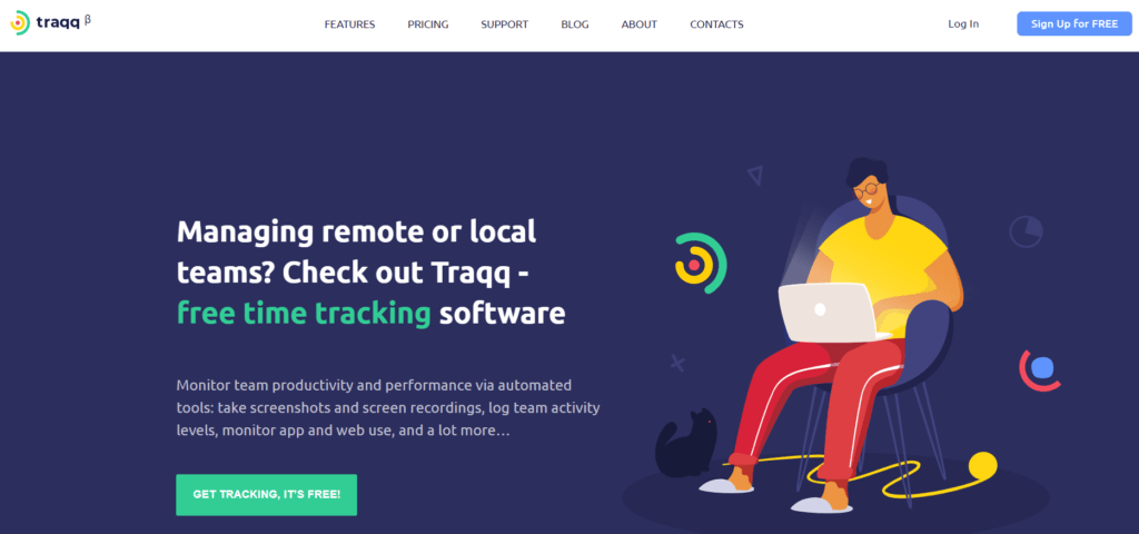 Traqq - free time tracking software