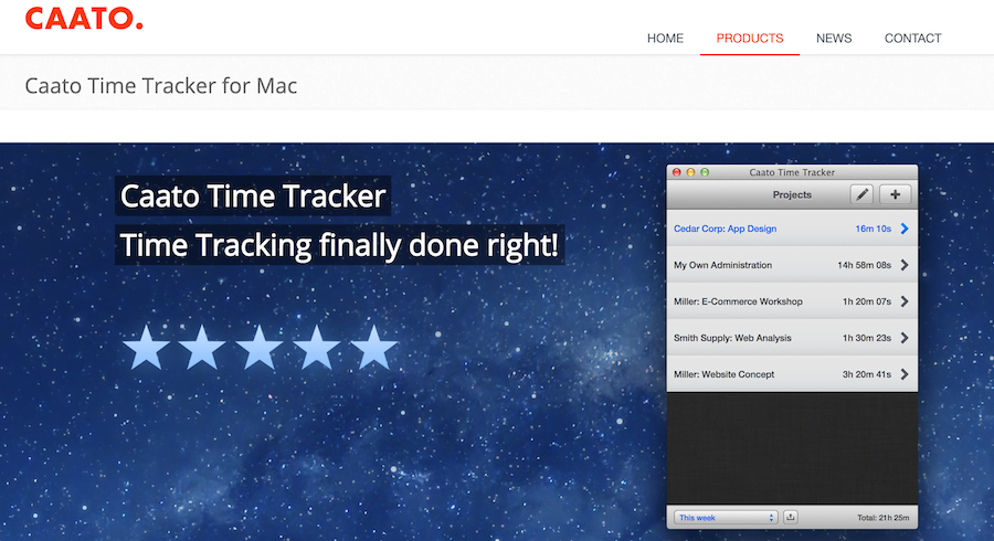Caato - Time Trackers for Mac