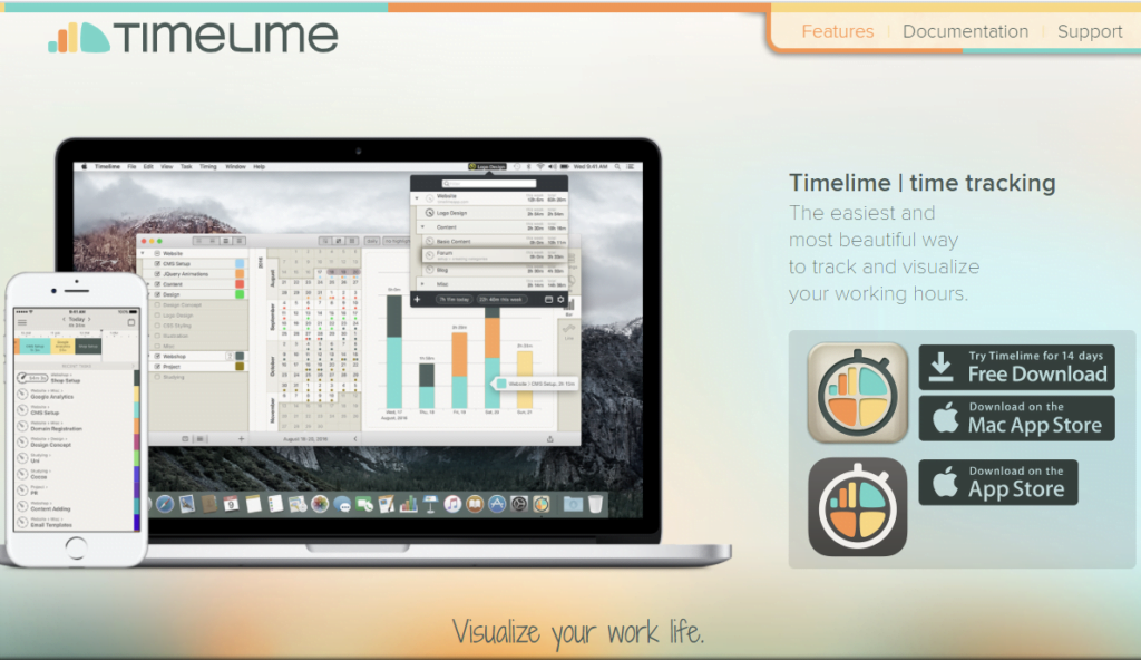 Timelime - Time Trackers for Mac