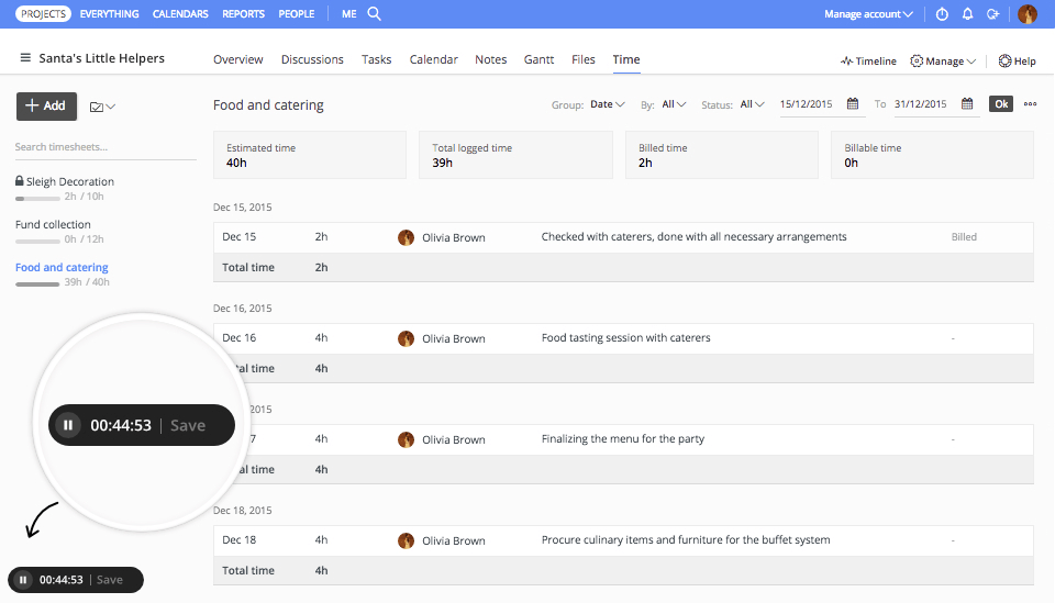 ProofHub - time tracker for Windows