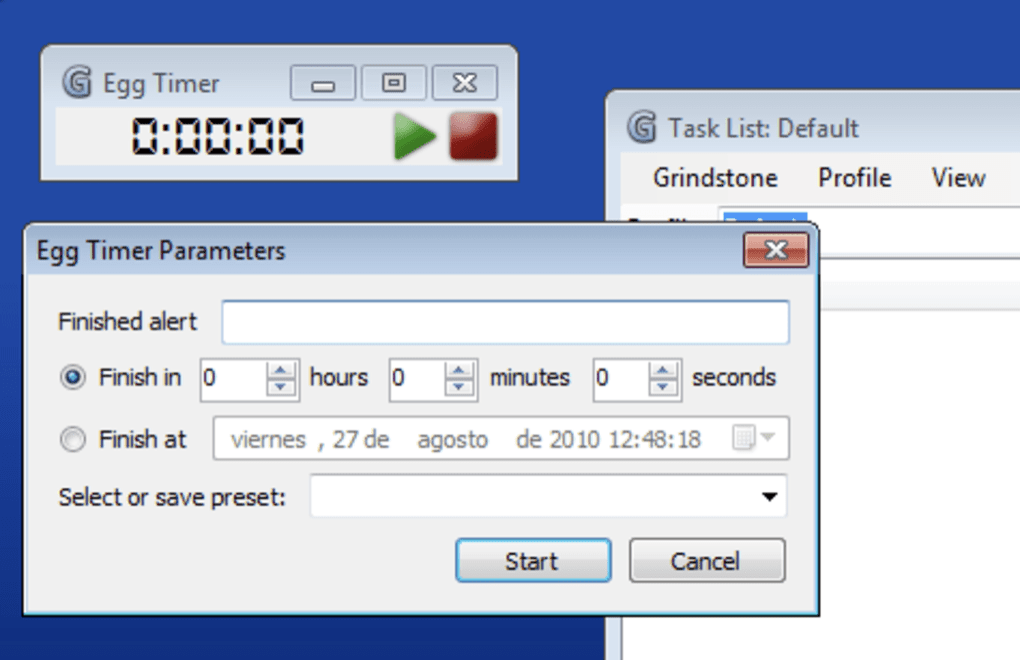 Grindstone - time tracker for Windows