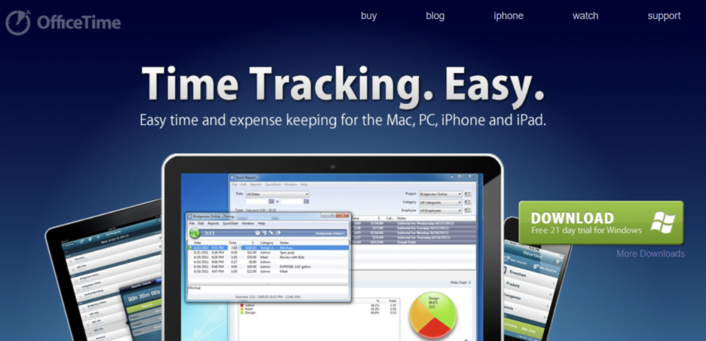 OfficeTime - Time Trackers for Mac