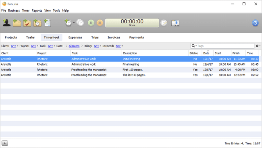 Fanurio - Time Trackers for Mac