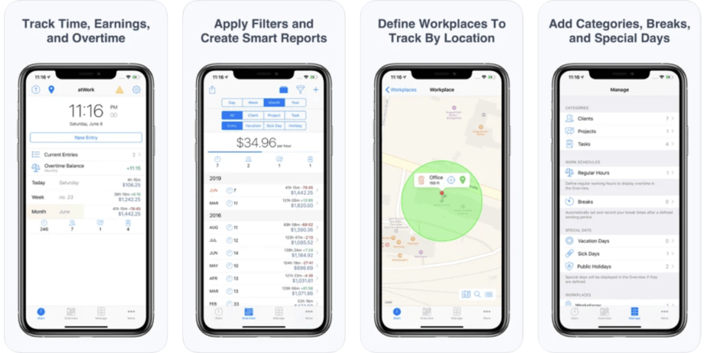 atWork - Time Trackers for Mac
