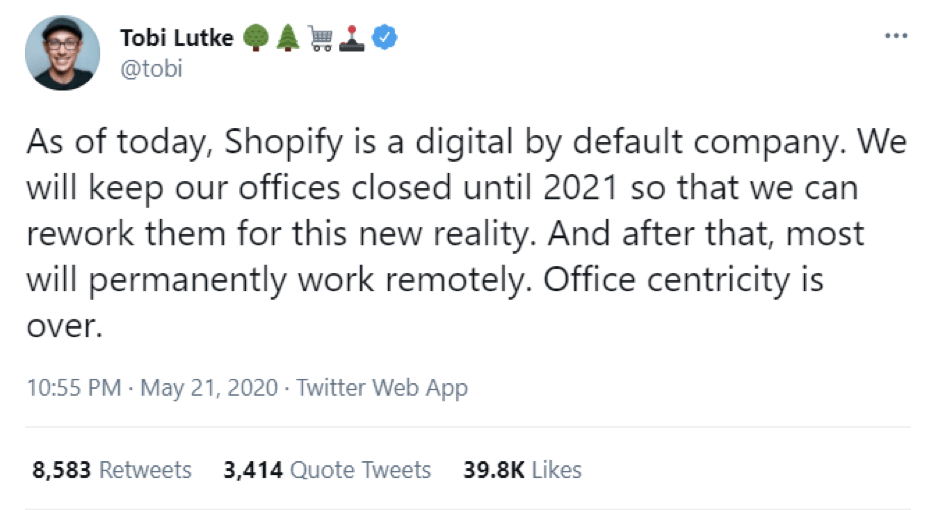 Shopify's CEO, Tobi Lutke