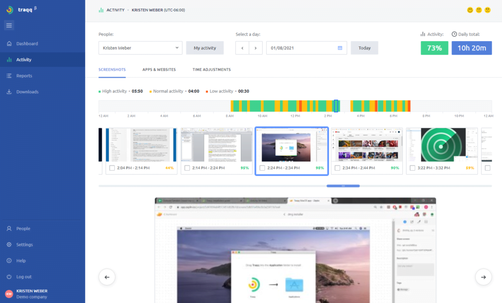 Screen Tracker