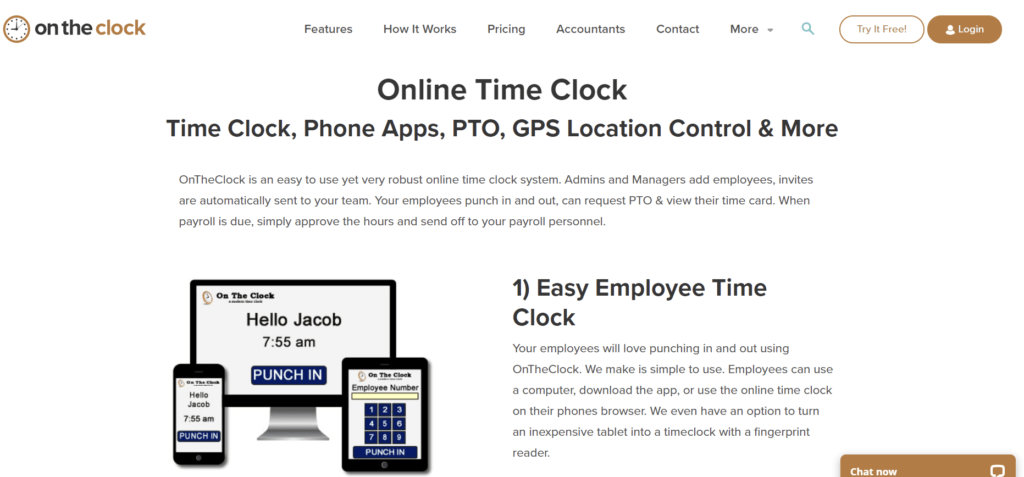On the Clock  - Time Clock System