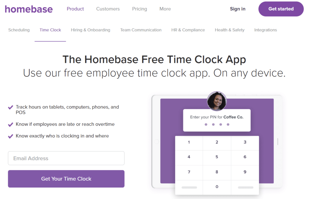 Homebase  - Time Clock System