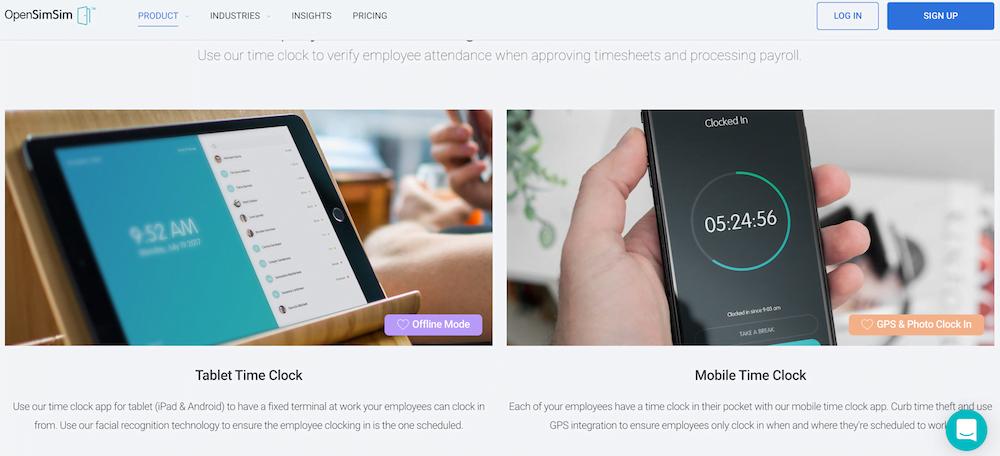 OpenSimSim  - Time Clock System