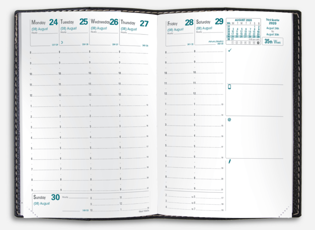 Quo Vadis Weekly Business Planner