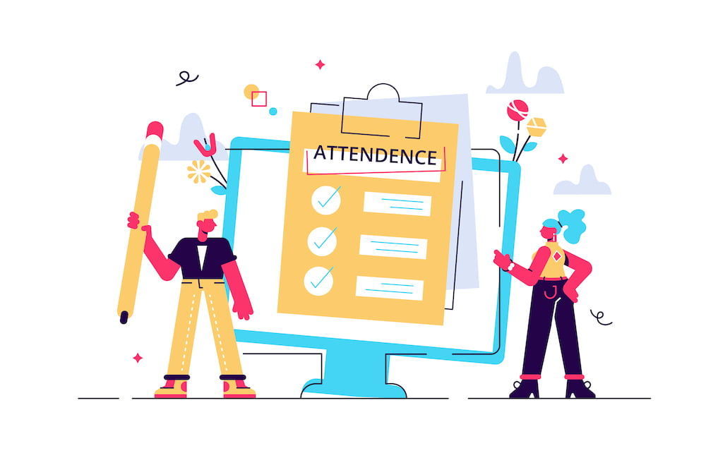 clipboard with checklist is a good tool for attendance management