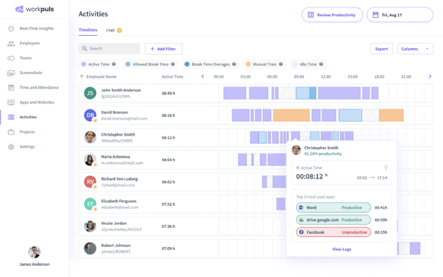 Workpuls - Time Tracking Software