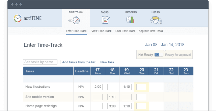 actiTime - Time Tracking Software