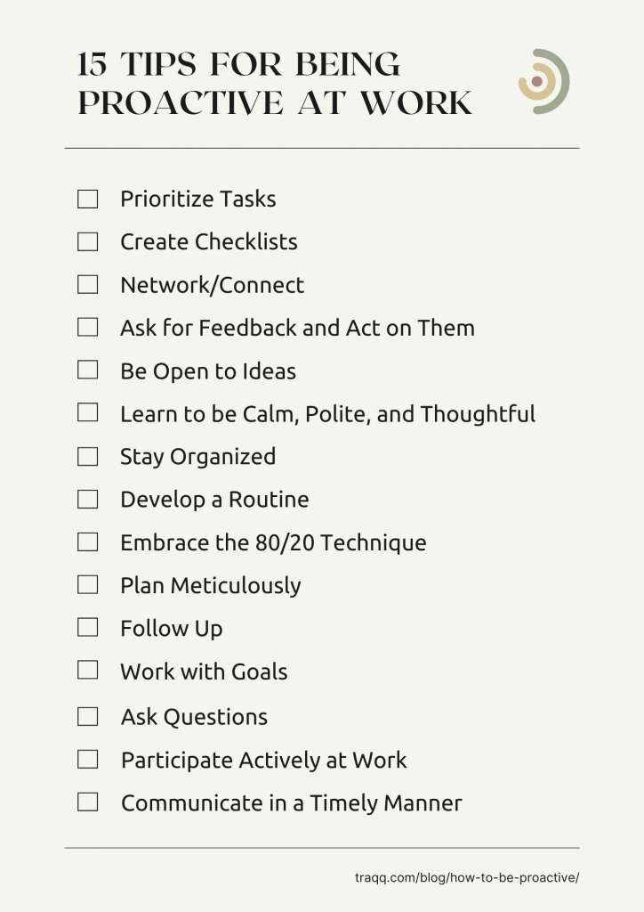proactive at work - checklist